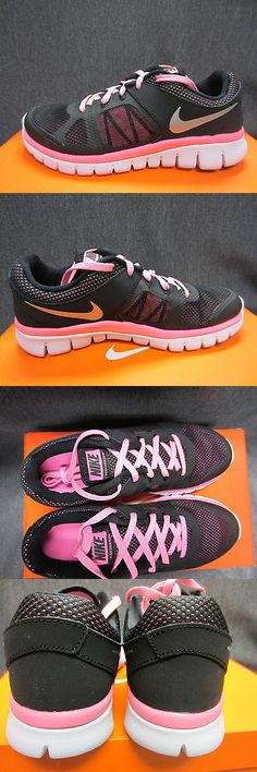 Youth 158954: New Nike Flex 2014 Rn (Gs) Girls Size 5 Y Youth Running Shoes Black Pink Silver -> BUY IT NOW ONLY: $54.99 on eBay!