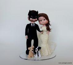 Topo de Bolo noivo Batman