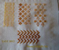 TAST 2012 Semaine 10  Running stitch - points de tissage, de reprise, droit, de trait.