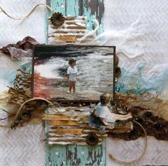 love the layers...the distressing...the cheesecloth...