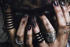 rings, black, and eyes image
