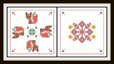 Recently, two foxes have been visiting  our property here in rural, Southern Illinois. I've been inspired and the new patterns prove it! Enjoy! Bliss of Birds PDF Cross Stitch Pattern: Whimsical by BlissOfBirds