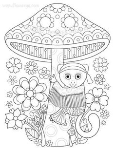 Hippie Pygmy Marmoset Coloring Page By Thaneeya
