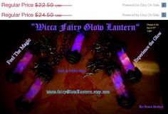 Wicca Magic Fairy Glow TM Lantern   Vial by FairyGlowLantern, $20.25