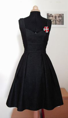 OLIVE šaty z džínoviny   Zboží prodejce Galia Couture 31a085e756
