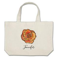 Elegant Watercolor Rose Name Tote - accessories accessory gift idea stylish unique custom Girly Gifts, Watercolor Rose, Beach Tote Bags, Gifts For Her, Reusable Tote Bags, Elegant Styles, Accessories, Gift Ideas, Stylish