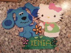 Perler Beads Hello Kitty Easter | Hello Kitty hama perler beads - Bügelperlen