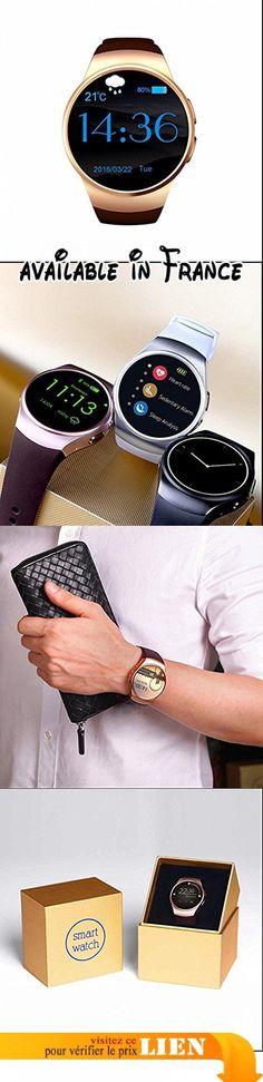 Smart Watch Bluetooth, Moniteur de fréquence cardiaque, Analyse de Sommeil/ Alarme Compatible avec Android Systeme. Fonctionne comme un vrai téléphone indépendamment, SMS / IM, dialers, contacts, dialer Bluetooth, mémoire appels et messages, appels Bluetooth, calendrier, retardateur, était à distance.. Rappelez-vous moniteur de sommeil Sédentaire, podomètre, tracker sommeil vous permet de maintenir une vie saine à tout moment, en tout lieu.. Avant la fonction de