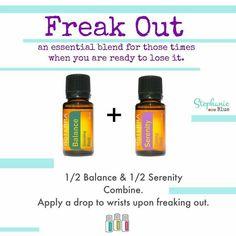 Essential oils for calming