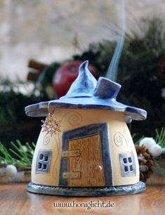 Keramik Räucherhäuschen von Honiglicht-Keramik