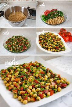 Trend Nohut Salatası Nefis Yemek Tarifleri www.n Chickpea salad trend Delicious recipes www. Salad Recipes, Healthy Recipes, Chickpea Recipes, Yummy Recipes, Cottage Cheese Salad, Salad Dishes, Chickpea Salad, Dinner Salads, Turkish Recipes