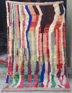 Vintage Moroccan boujaad rug 305 x 148 cm