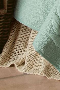 Love this!!!    Raw Silk Woven Bedskirt from Soft Surroundings