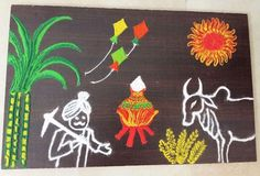 Latest creative rangoli design for marathi festival makar sankranti Rangoli Side Designs, Rangoli Designs Latest, Simple Rangoli Designs Images, Free Hand Rangoli Design, Rangoli Patterns, Colorful Rangoli Designs, Rangoli Ideas, Rangoli Designs Diwali, Beautiful Rangoli Designs