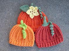 Ravelry: Pumpkin Beanie pattern by Crochet by Jennifer  http://www.ravelry.com/patterns/library/pumpkin-beanie-5