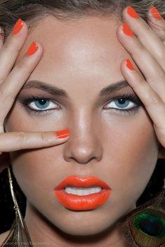 How To Make Orange Lipstick Work For Your Skin Tone: http://poiseandpurpose.com/how-to-make-orange-lipstick-work-for-your-skin-tone/