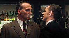 Christopher Eccleston and Tom Hardy in 'Legend' (Photo: Studio Canal)