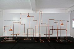 the swedish design trio emphasizes the inner workings of a shower system, by exposing the technology and network of pipes usually hidden behind the wall in the form of a visually appealing installation. Pool Shower, Plumbing Problems, Best Bath, Shower Systems, Swedish Design, New Gadgets, Sustainable Design, Magazine Design, Architecture Design