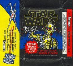Vintage Star Wars bubble gum wrapper