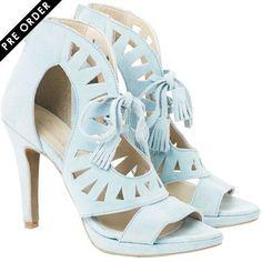 Fashionable Blue Heels