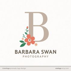 Custom Logo Design - Floral Monogram by Otologo