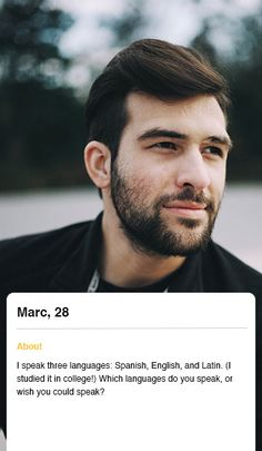 dating bio example for men
