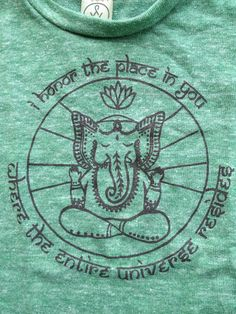 Hey, I found this really awesome Etsy listing at https://www.etsy.com/listing/162532123/ganesh-yoga-eco-tank