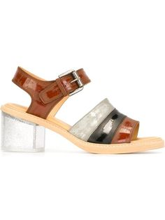 Mm6 Maison Margiela Block Heel Sandals - 13metriquadri - Farfetch.com