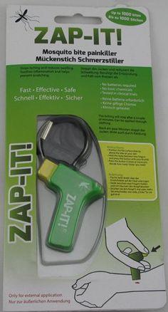 http://www.stuntwinkel.nl/zap-it-pijnstiller-tegen-muggenbeten-6-kleuren.html Zap-It - Pijnstiller tegen muggenbeten €3,95 Met de Zap-It muggenbeet verzachter, verzacht u snel, effectief en veilig een muggenbeet.  Het stopt het jeuken en vermindert de zwelling. Het jeuken stopt al na enkele minuten.  Informatie: - Behandelt tot 1000 muggenbeten - Geen batterijen nodig - Maakt geen gebruik vanchemicaliën - Alleen geschikt voor uitwendig gebruik - Klinisch getest