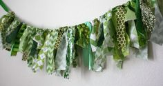Your place to buy and sell all things handmade Fabric Garland, St Paddys Day, Photography Props, Shades Of Green, Print Design, Aqua, Banner, Unique, Prints