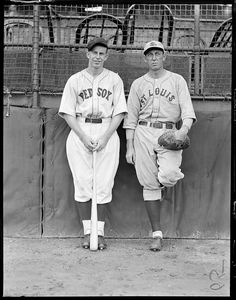 1933 - Boston Red Sox Rick Ferrell and St. Louis Brown Merv Shea at Fenway Park