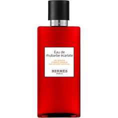 Hermès Eau de rhubarbe &carlate Hair & Body Shower Gel ($43) ❤ liked on Polyvore featuring beauty products, bath & body products, body cleansers, beauty, fillers, perfume, cologne perfume, hermes perfume, eau de cologne and perfume cologne