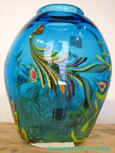 Murano hand-blown glass vase
