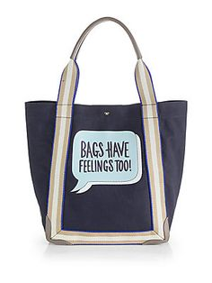 Anya Hindmarch Bags Have Feelings Too Canvas Tote