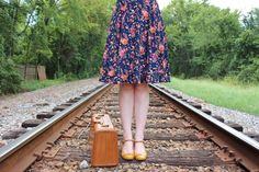 Blogger Amelia Jetson is the cutest in our Kate dress in the Pink and Navy Florette