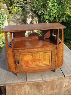 arts and crafts smokers cabinet £325