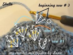 To enlarge ,click on the photo.     Tutorial     Materials   Bernat Baby Sport Yarn or any other baby brand.   Lana para bebe   Hook 4....