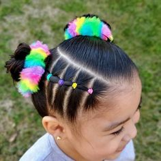 Cute Toddler Hairstyles, Easy Little Girl Hairstyles, Kids Curly Hairstyles, Baby Girl Hairstyles, Braided Hairstyles, Olive Hair, Girl Hair Dos, Girls Braids, Hair Styles