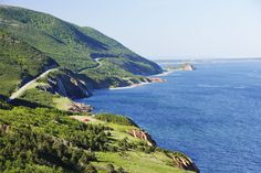 Cabot Trail And Gulf Of St. Lawrence, Cape Breton Highlands National Park, Nova Scotia, Canada - Design Pics Inc/REX Cabot Trail, Travel Ads, Cape Breton, Prince Edward Island, The Province, Nova Scotia, Continents, National Parks, Places To Visit