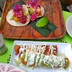 La Esquina Corner Deli - New York, NY, United States. Chicken flautas & fish tacos #fishtacos #flautas #Foodie #FoodPic #FoodPorn #Fattygram #InstaFood #Foodiegram #Food #eat