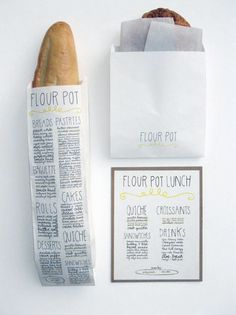 Bakery menu and packaging design. i love you. whaaaaaaat?