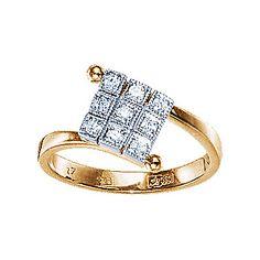 Золотое кольцо  10873RS http://topchasy.ru/index.php?route=product/product&product_id=175488  Price:  34 315.00 р.Кольцо с бриллиантами. 9 бриллиантов 0,12 карат. Материал: красное золото 585 пр. Средний вес: 2.8 гр..