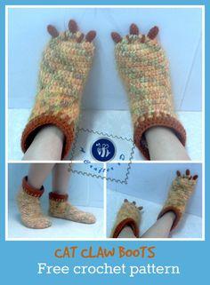 claw boots crochet pattern