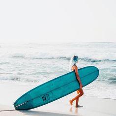 """""""Blue board, blue hair, blue ocean, blue heart..."""