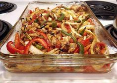 Baked Chicken Fajitas - Heart Healthy Recipe -  Very Delicious. You must try this recipe!