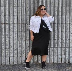 Cassie wears a black sweater dress   40plusstyle.com