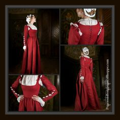 Available in Midnight Blue, Wine Red, and Green, our #Medieval Kirtle #Corset Dress is flattering, feminine, and festive! Fashioned from linen and corset bones, it features removable sleeves for versatility, and a bell-shaped silhouette for freedom of movement and an hourglass figure. http://www.pearsonsrenaissanceshoppe.com/kirtle-corset-dress.html