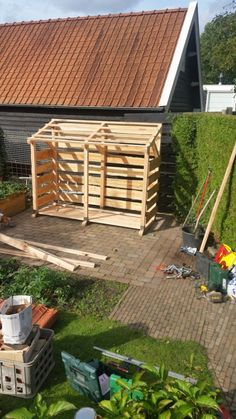 Whilst age-old within concept, the particular pergola has been suffering from somewhat of a current Firewood Stand, Outdoor Firewood Rack, Firewood Storage, Outdoor Garden Sheds, Porch Garden, Garden Tool Storage, Shed Storage, Bin Shed, Pool Deck Plans