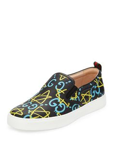 4831b53fb28 Dublin GucciGhost Leather Slip-On Sneaker Slip On Trainers