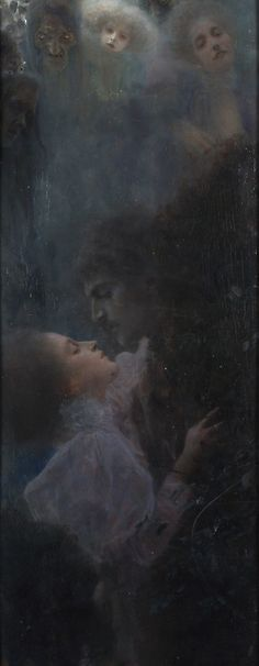 Gustav Klimt 1895 Love https://www.artexperiencenyc.com/social_login/?utm_source=pinterest_medium=pins_content=pinterest_pins_campaign=pinterest_initial